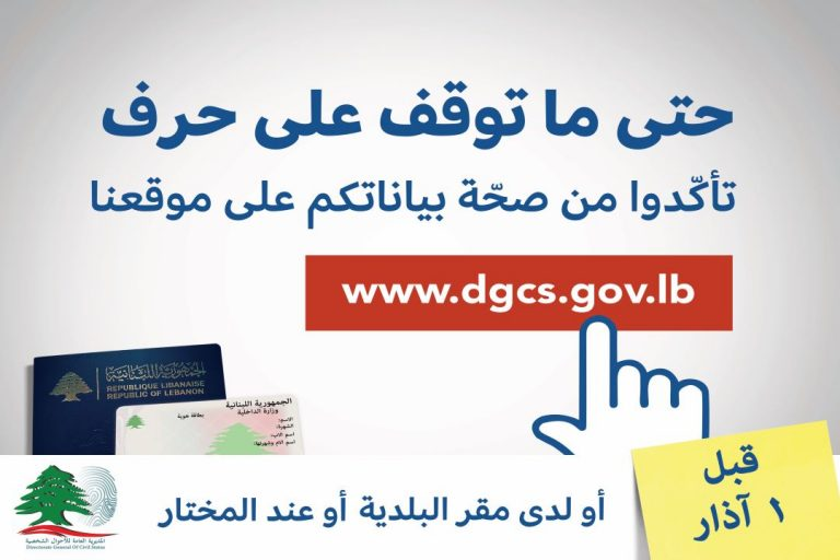 2020 Voter Registration Campaign - Billborad Visual elections Lebanon